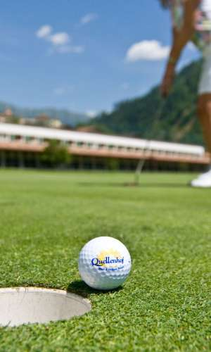 4-hole golf course in the Quellenhof Resort in South Tyrol