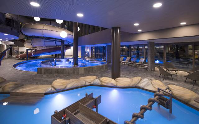 Water worlds and pools in the Quellenhof Resort in South Tyrol