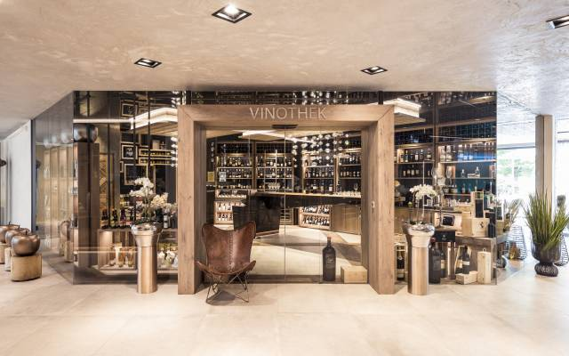 wine cellar in the Quellenhof Resort