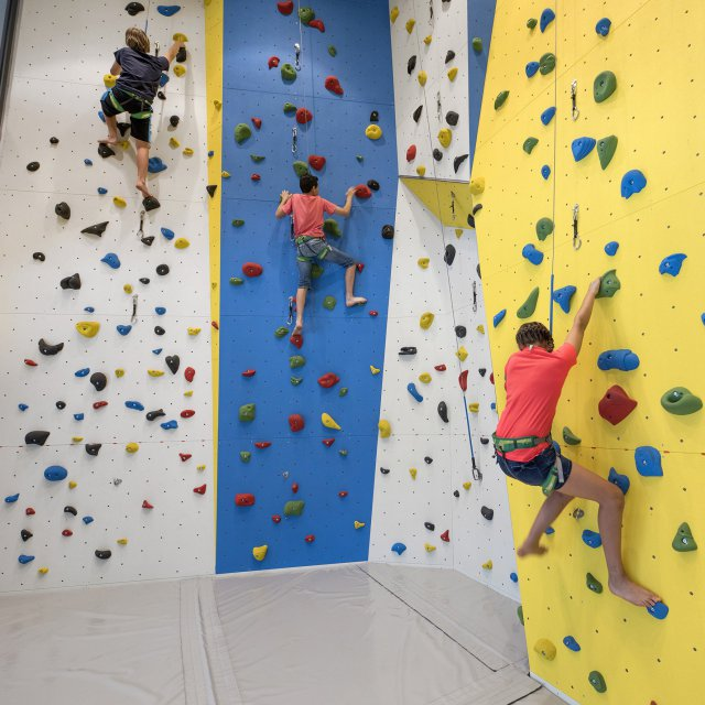 Climbing gym in the Quellenhof Resort