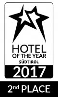Logo Hotels of the year 2017 Südtirol - Zweiter Platz
